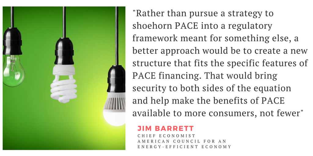ACEEE supports PACE financing